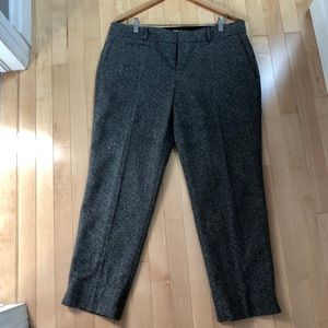 BR wool-blend tweed lined ankle pant - EUC size 14